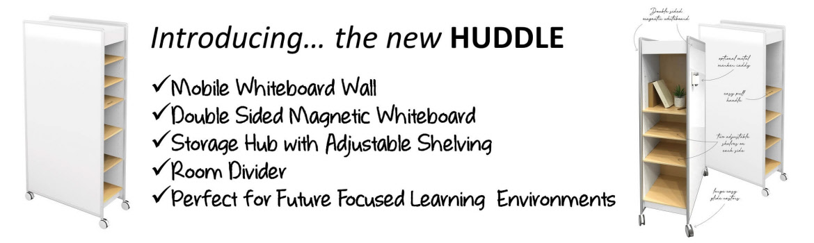 Boards Direct | Introducing... the HUDDLE Collab Mobile Whiteboard Wall